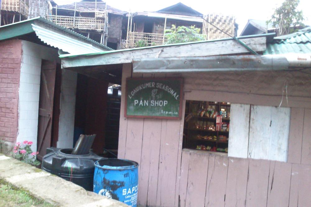 A paan shop in Ungma Village, Nagaland